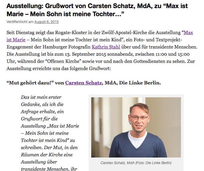 Fotoprojekt, Transidentität, Carsten Schatz