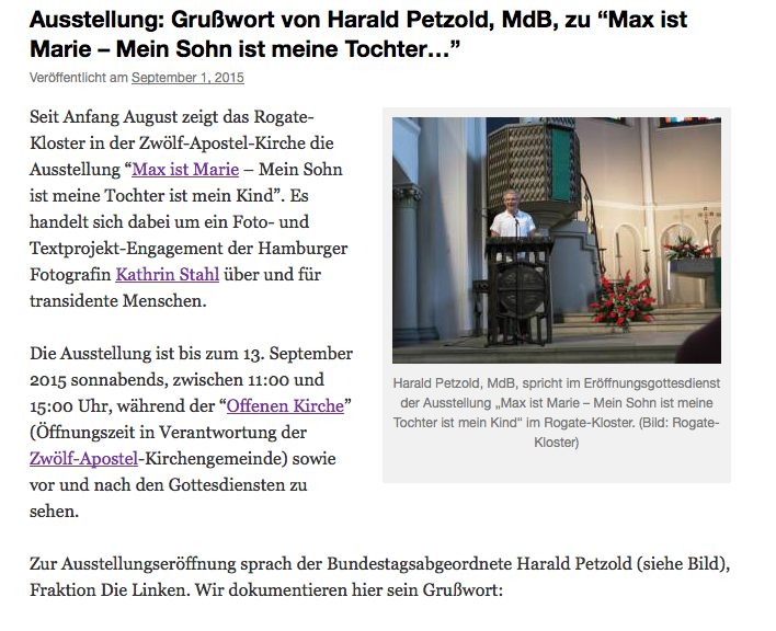 Fotoprojekt, Transidentität, Harald Petzold