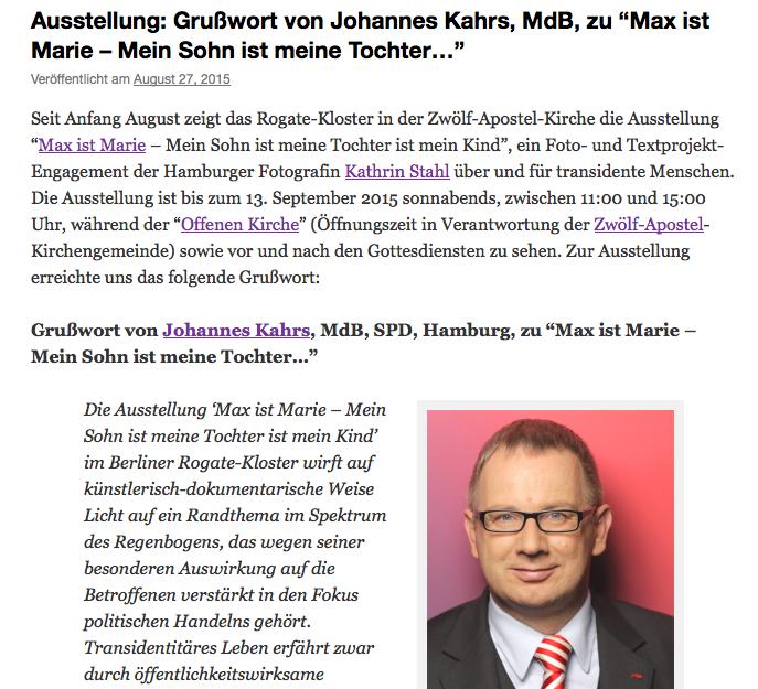 Fotoprojekt, Transidentität, Johannes Kahrs