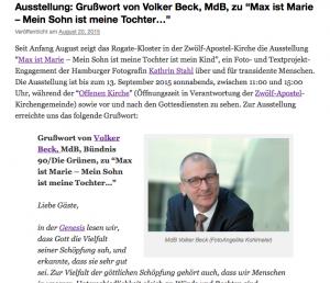 Fotoprojekt, Transidentität, Volker Beck