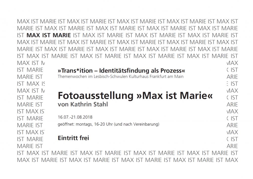 Fotoprojekt Transident, Ausstellung Frankfurt